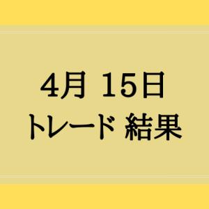 4月15日 トレード結果