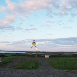 【景色】クッチャロ湖とオホーツク海が一望できるクローバーの丘