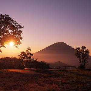 """【景色】年に数日ダイヤモンド羊蹄山が見られることも!羊蹄山と夕日が一緒に見られる""""羊蹄パノラマテラス"""""""