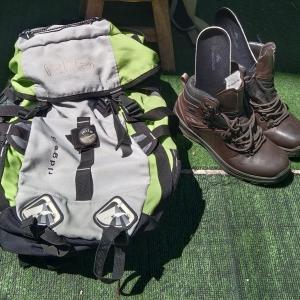 登山装備で買い物に!