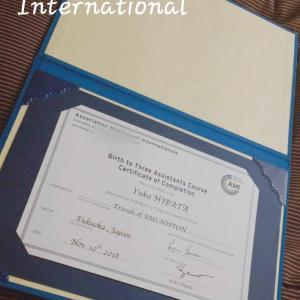 国際資格取得しました。