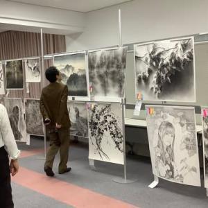第3回日美展水墨画部門の最終審査