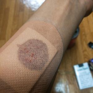 血飛沫の床