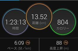 朝の気温 23℃
