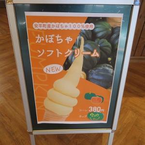 道の駅「安平D51ステーション」D51にはフラれましたがかぼちゃソフトが秀逸でした☆