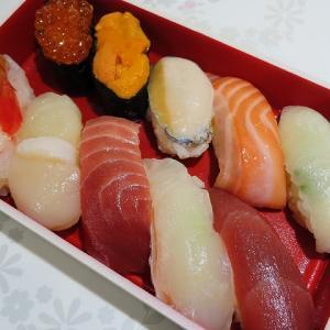 回転寿司なごやか亭をテイクアウト☆炙りえんがわが最近のお気に入りです☆
