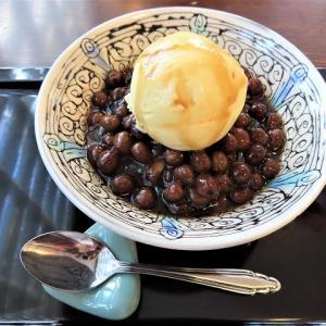 京都・銀閣寺近くの甘味処「喜み家」で大人気の豆かんバニラのせ☆