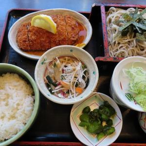 ごまそば遊鶴(美園店)でお蕎麦とカツのセット☆