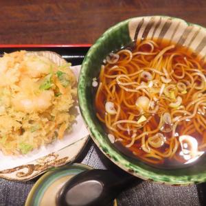 澄川の人気店「蕎麦・みやび屋」で小海老・小柱・白エビがたっぷり入った海鮮かき揚げ蕎麦☆