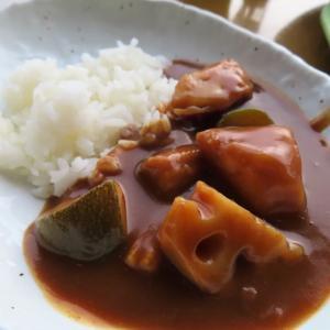 支笏湖の秘湯・丸駒温泉のシンプルだけど美味しかった朝食☆野菜カレーが絶品でした☆