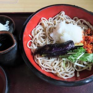 暑い時期の大好きメニュー☆「蕎麦たちばな」のごま辛茄子おろし蕎麦☆