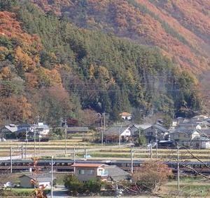 篠ノ井線紅葉&駅巡り②西条駅