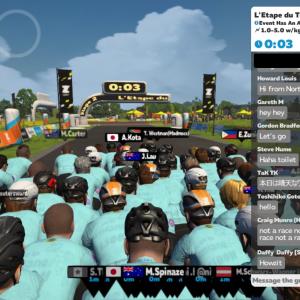 仮想ツール・ド・フランス第2戦、L'ETAPE DU TOUR DE FRANCE Stage2に参戦してみた