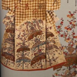先人たちの祈りの着物 「花傘模様 小袖」  特別展「きもの KIMONO」に行ってきました②