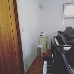 ピアノ室の模様替え