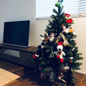 ハロウィンにクリスマスツリーを飾る