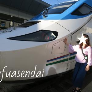 タシケントからサマルカンドまでは列車で☆