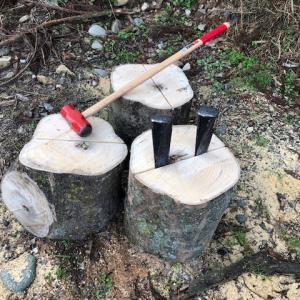 【薪割り】雑木玉を割る