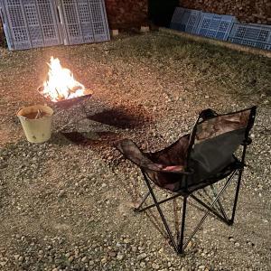【焚き火】ちょっと涼しくなってきましたね。焚き火をしました。