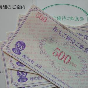 飲食優待券(大庄)・クオカード(Eストア)