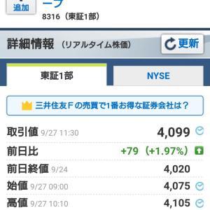 横浜冷凍つなぎセット・クロス追加~メガバンク↑来たぁ~♪
