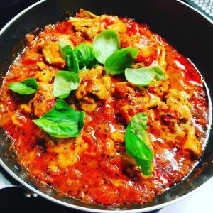 おうちご飯 鶏のトマト煮込み