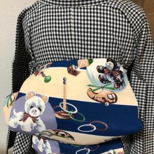 木綿の着物とビンテージ帯@朝コーデ