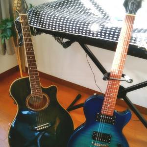 相棒が増えました~、Eギター(レスポール)