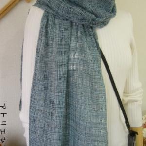 生徒さんの作品、ブーケ織り、ダブルウィーブ
