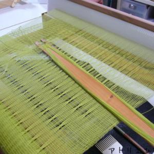 生徒さんの作品、レース織り