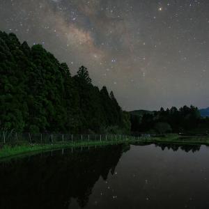 過去画像です 田んぼと星空