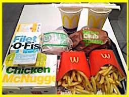 マクドナルドでヤケクソ食い、これでもか!!独りで、¥2040