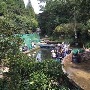 宮崎県のしゃくなげの森でヤマメ釣りに行きました