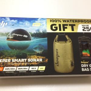 Deeper pro+に特典でドラム型防水バッグがついてくる 実際に砂とか水かけてみました