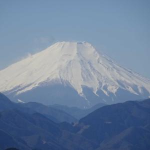 2020.2.23 富士山の日に高尾山から見た富士山