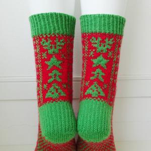 Secret Christmas Socksパターンリリースしました!