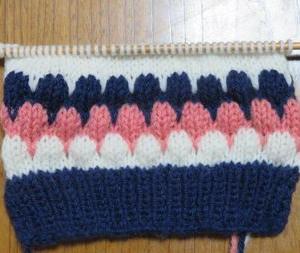 棒針編み・・・試し編み!
