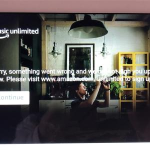 Amazon Echoshow8でプライム・ビデオが再生出来なくなった(゚Д゚)
