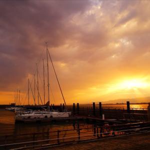 大阪北港マリーナの夕日