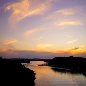 大王崎灯台と賢島大橋からの夕日