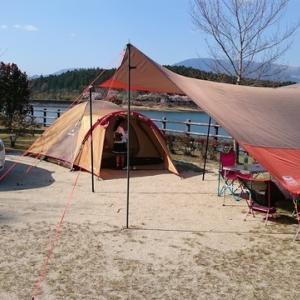 今年初キャンプは椛の湖(はなのこ)オートキャンプ場