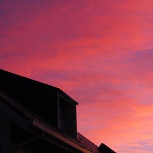 夏のボレロと夕焼け空