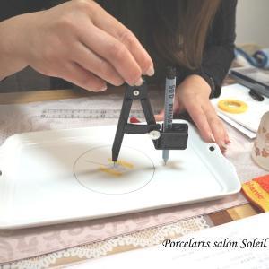 【レッスン風景】Lesson 2への準備♡ポーセラーツ転写紙コース