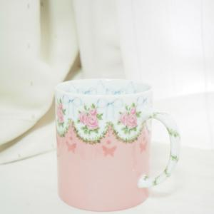 【私の学び】ガーランドのマグカップ♡アールポーセカリキュラム作品