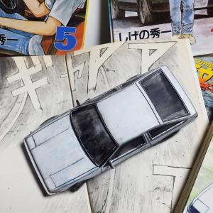 AE86トレノをイニシャルDの原画風に塗装してみた件