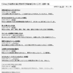 ブログの整理