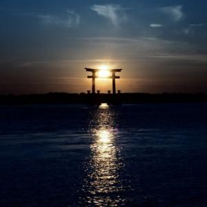 弁天島の夕景