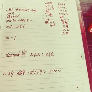 日曜日は、一週間のメニュー決め(宝塚市中山・山本・雲雀丘花屋敷ピアノ教室)