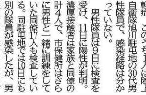 「旭川市2人感染」の記事