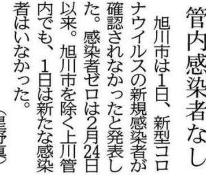 「管内感染者なし」の記事